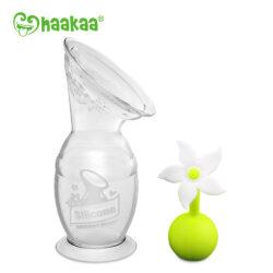 Haaka 150ml Breast Pump & White Flower Stopper Pack